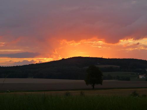 Himmelsglühen über dem Butterberg