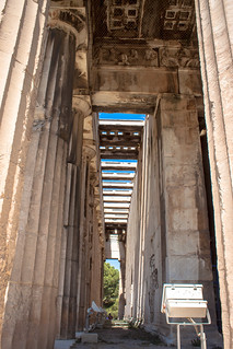 Image of Temple of Hephaistos near Athens. 2016 agora ancientagora athens greece hephaestus hephaisteion hephaistos hephesteum lightroom temple templeofhephaestus templeofhephaistos theseion theseum athina attica