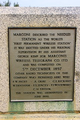 Photo of Guglielmo Marconi gold plaque