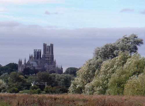Ely Cathedral from River Great Ouse, near Cuckoo Bridge