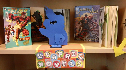 Graphic Novels library display