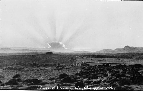 Kötlugos við sólarupprás, 1918