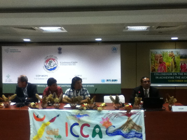Colloquium on the role of Indigenous Peoples' and Community Conserved Areas in achieving the Aichi Targets at #COP11