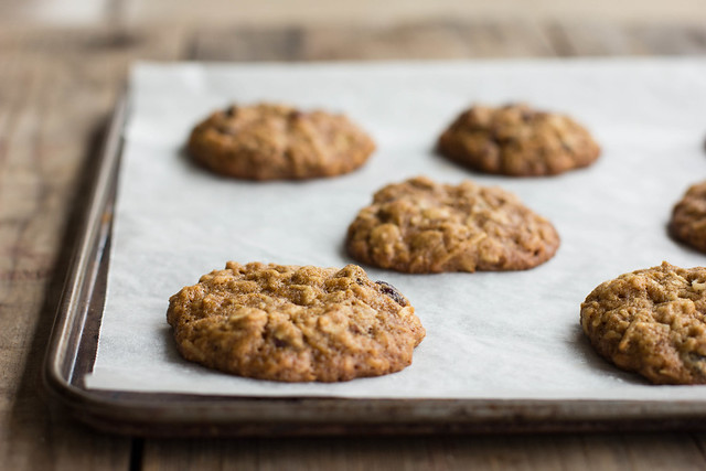 chewy cranberry, oat + coconut cookies {wheat-free}