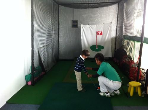 Scott's first golf lesson