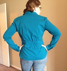 Elastic-Back Shirt Refashion - After