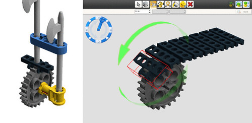 Look for technik link chain template on ldd lego digital for Lego digital designer templates