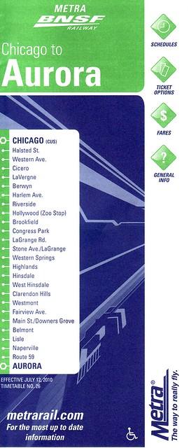 Metra BNSF 2010 Cover