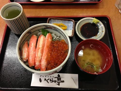 かに・いくら丼 - 池袋西武 秋の北海道うまいもの会 いくら亭