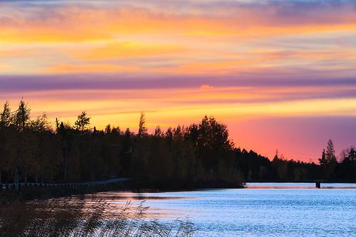sunset suomi finland colours colourful lappeenranta fallcolours lakesaimaa southkarelia