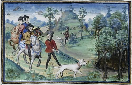 15th century illuminated manuscript miniature: Henri de Ferrières, Les Livres du roy Modus et de la royne Ratio 59