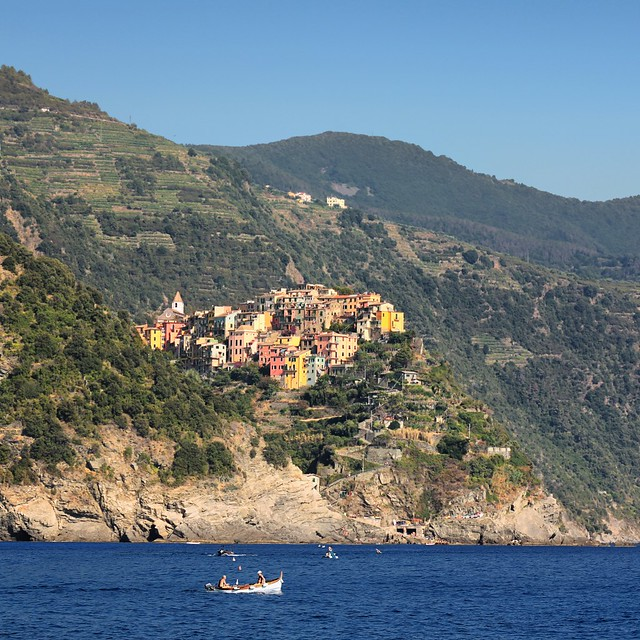 Corniglia's elevated position above the sea