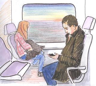En el tren de Cercanías