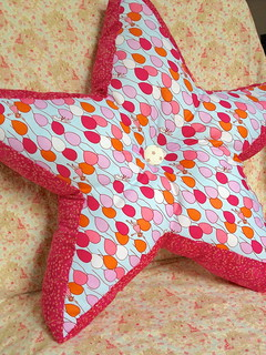 Star Pillow with Sarah Jane Fabric ( side A)