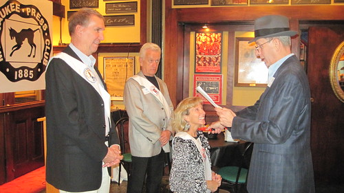 Annual Meeting 2012.  Knighting of John Fauber, Julie Pedretti & H. Carl Mueller.