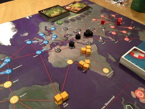Pandemic - initial infection zones