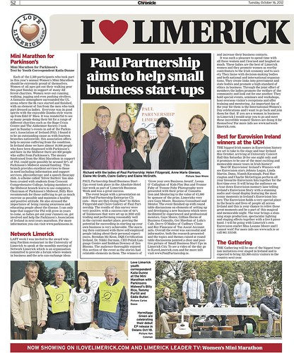 Limerick Chronicle Column 16 Oct 2012