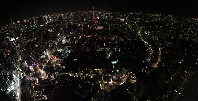 Panorama night view from Roppongi Hills, Tokyo