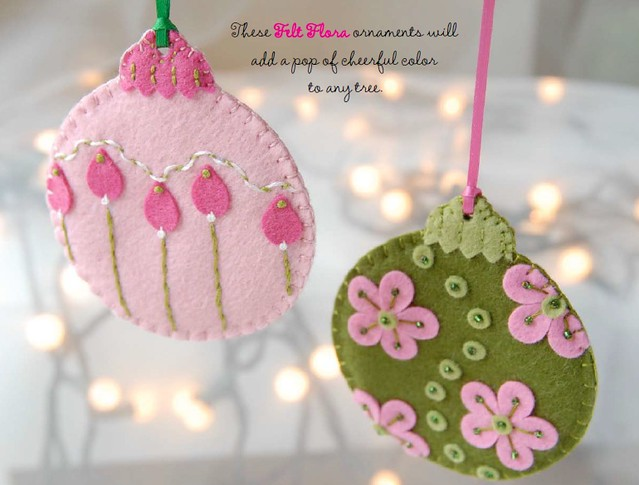 Felt Flora free download from Lark Crafts