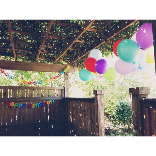 It's a perfect day for a backyard birthday party.