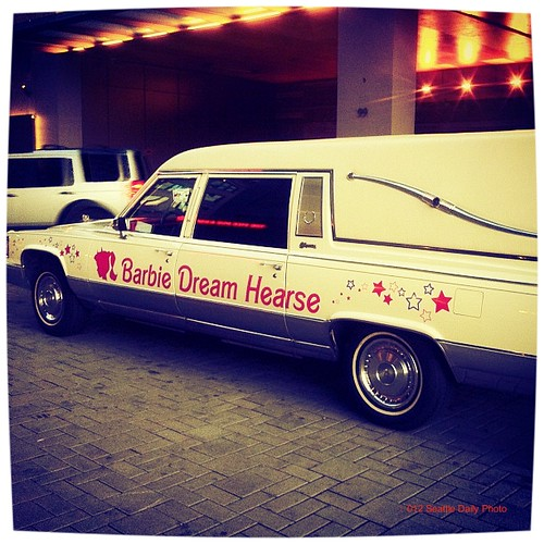 Kinda Spooky Barbie Dream Hearse by Seattle Daily Photo