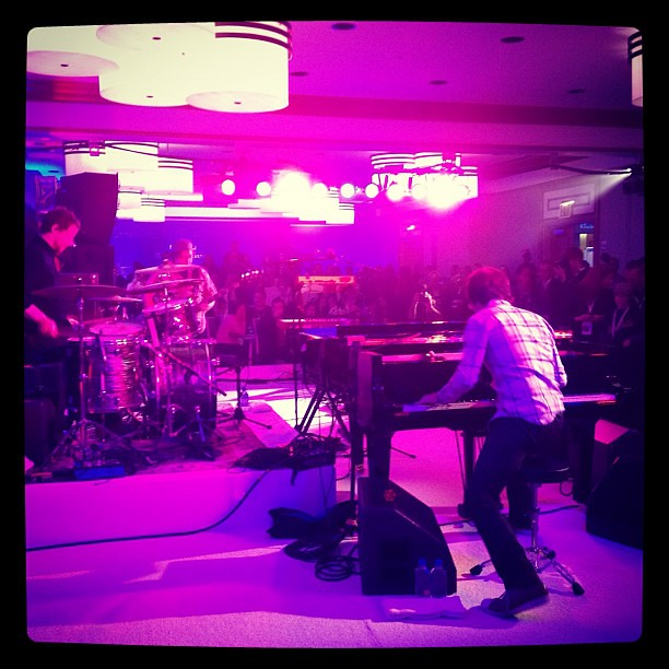 Ben Folds Five giving an intimate performance at the Westin in NYC. Reunited after 13 years!
