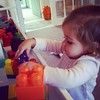 My girl Hartley is busy creating. #lovemybaby