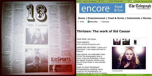 13 Questions: Sid Ceaser • The Nashua Telegraph's Encore