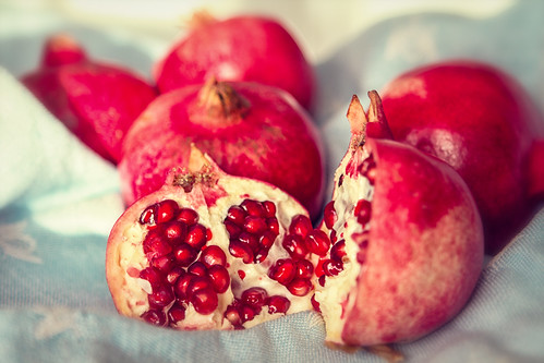 Details of a pomegranate. by Fon-tina