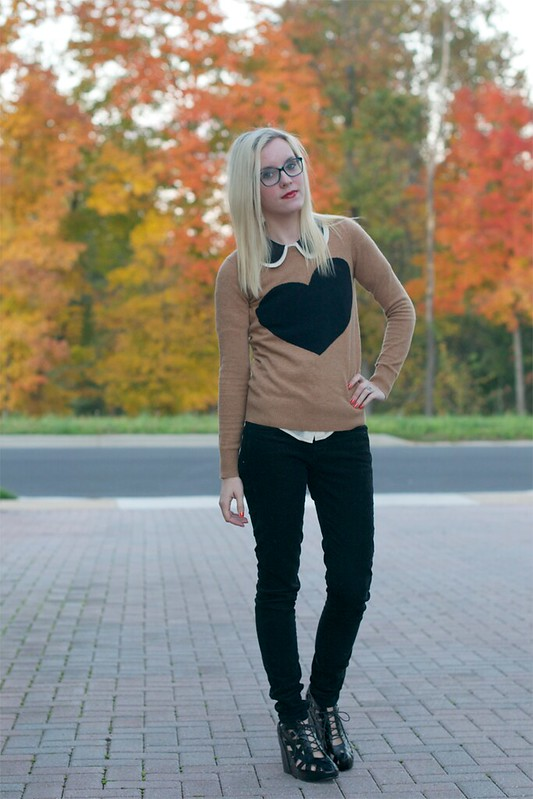 jcrew heart sweater