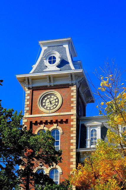 South Tower of Old Main, University of Arkansas Campus - Fayetteville, Arkansas