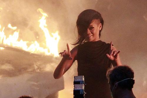 Rihanna DIAMONDS video shoot in LA