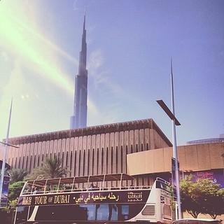 One last Dubai pic- Big Bus Tour and Burj Khalifa