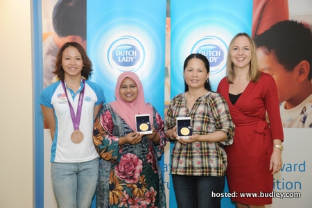 (L-R) Pandelela Rinong, Shashalaily Mohd Noordin, Wan Kum Peng, Anja Henze