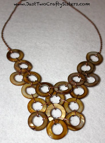 Brown Bib Necklace Tutorial