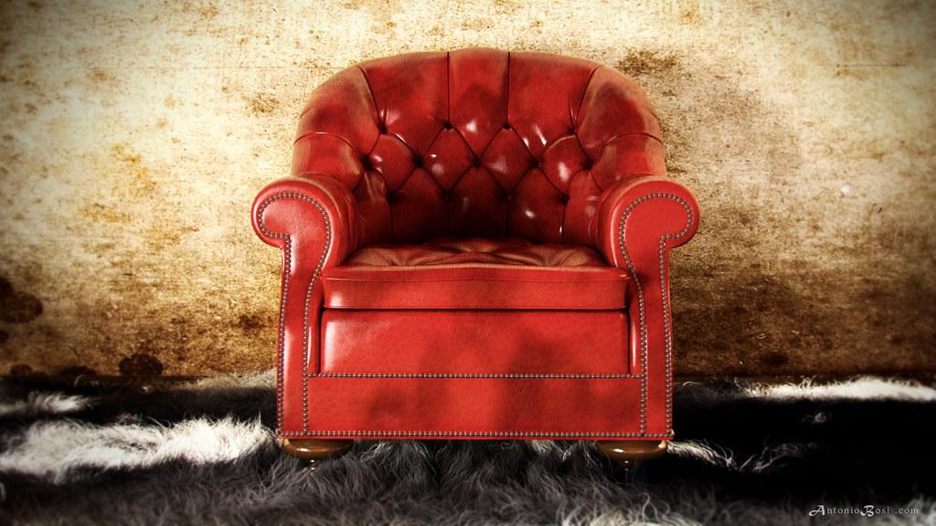 Chesterfield Armchair Render | Render 3D Arezzo