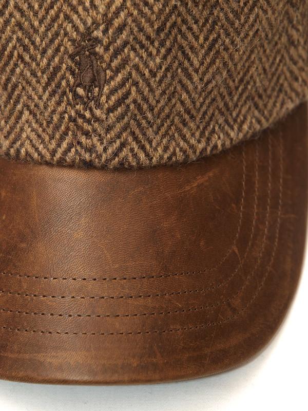 Ralph Lauren / Tweed/Leather Cap