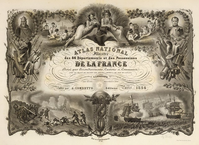 Atlas National Illustre des 86 Departments et des Possessions De La France 1856