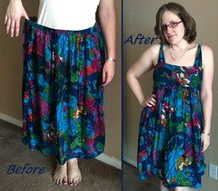 Breezy Floral Dress Before & After