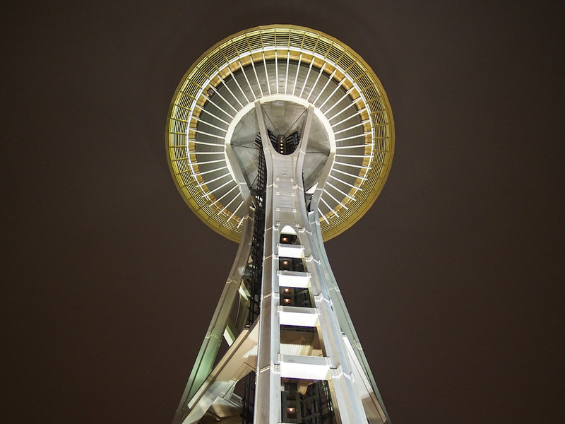Space Needle at dusk