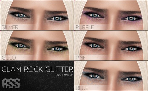 A:S:S Glam rock glitter makeup