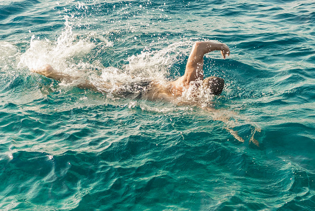 Man swimming in the sea   Flickr - Photo Sharing!