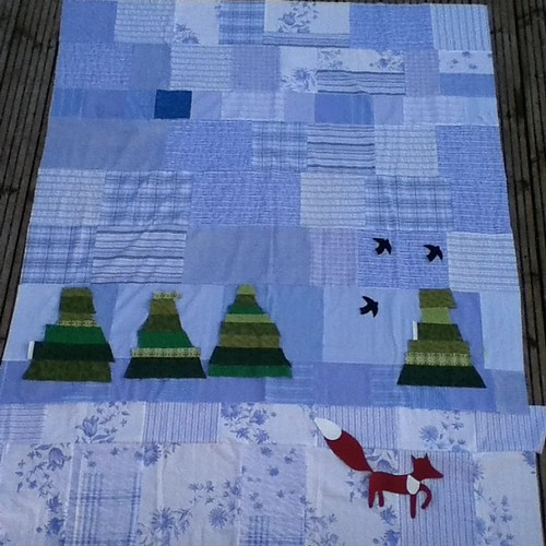 Syko Frosty baby quilt