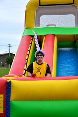 outdoor play equipment, yellow, play, leisure, games, playground slide, inflatable, playground,