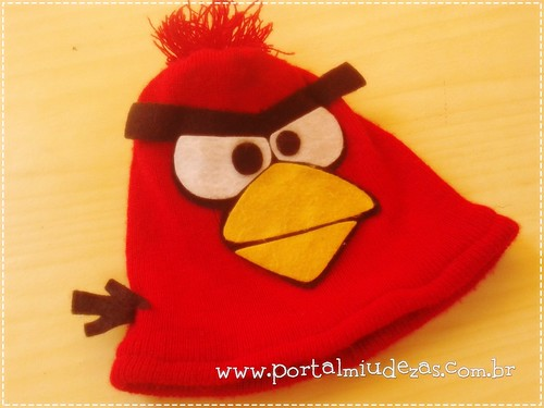 Touca Angry Birds by miudezas_miudezas