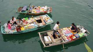 Food Vendors - Halong Bay, Vietnam