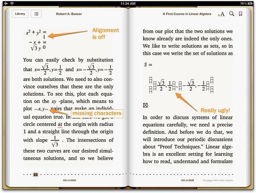 MathML in iBooks3 in iOS5