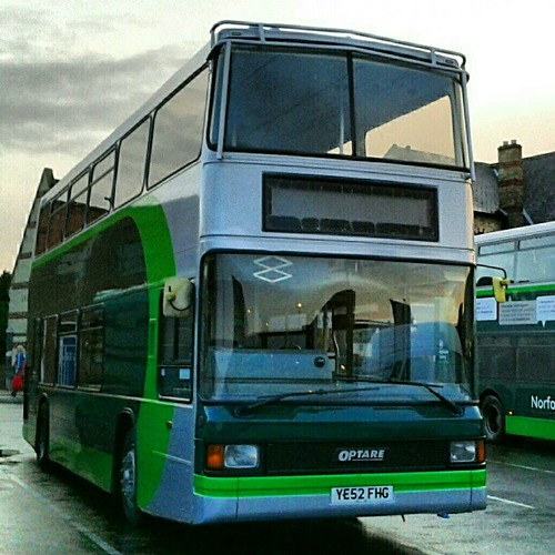 Norfolk Green 2 YE52FHG back from repaint into new livery & interior refurb