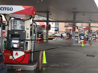 A Queens gas station, out of gas