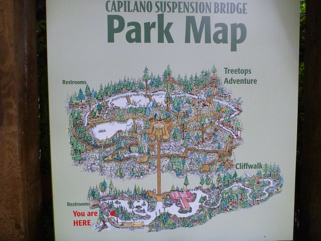 Capilano Suspension Bridge Park Map